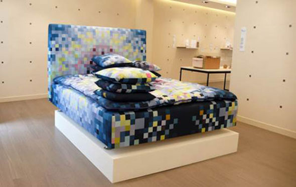 limited edition pixelated bed furniture design