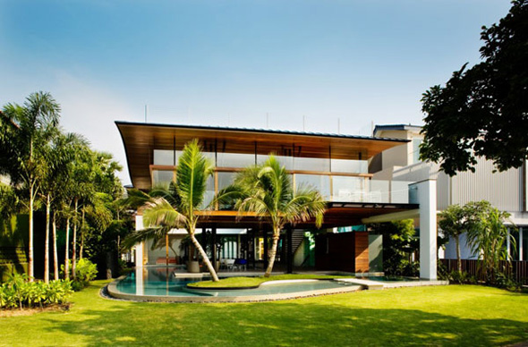 exotic tropical residence architecture in singapore