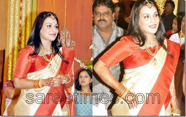 Aishwaryra-RajiniKanth-Sari