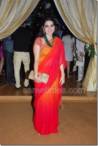 Shaina-NC-Red-Plain-Sari