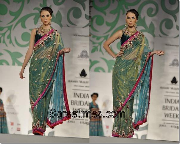Nisha_Sagar_Green_Designer_Saree