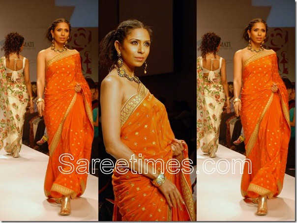 Malini_Vijay_Orange_Designer_Saree