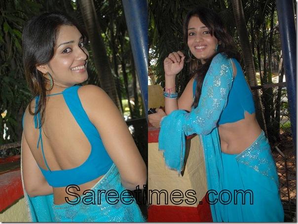 Nikitha_Blue_Designer_Saree