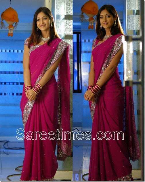 Ileana_Purple_Saree