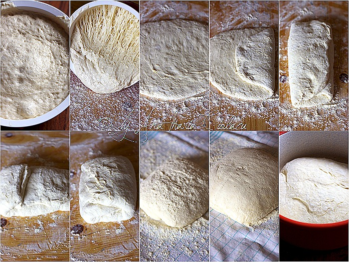 No knead bread collage 2