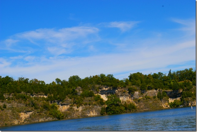 high bluffs with trees