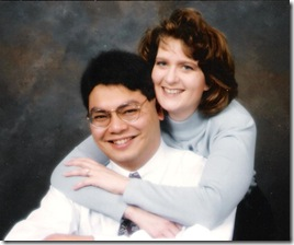 our engagement photo, 1996