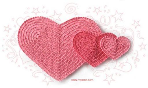 心形垫子 - 阿明的手工坊 - 千针万线