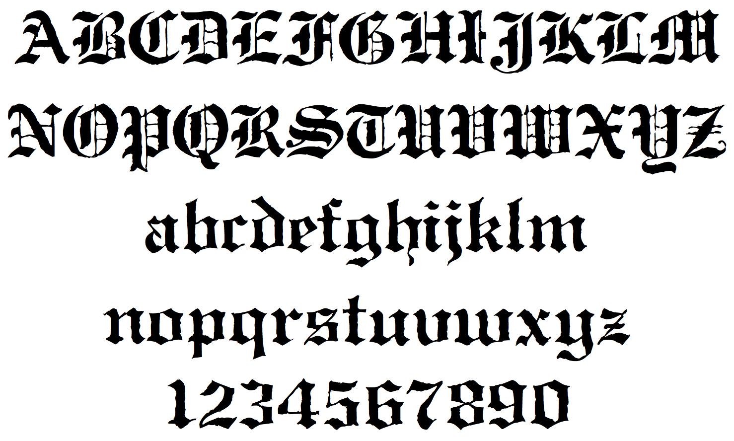 Gothic calligraphy alphabet a z imgkid the
