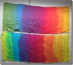bright and warm silk rainbows