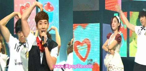 Gain แอบไปเป็นแดนซ์เซอร์ให้ Jokwon ใน Music Core