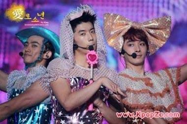 สมาชิก 2PM แปลงร่างเป็นเกิร์ลกรุ๊ป Orange Caramel