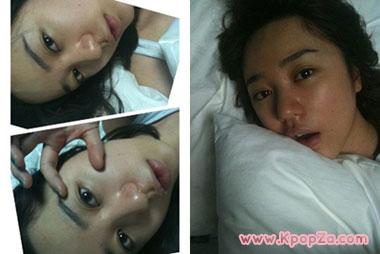 รูปถ่าย Yoon Eun Hye หลังตื่นนอน