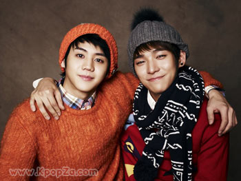 Drama และ Yoseob ในมิวสิควีดีโอเพลง 'First Snow and First Kiss'