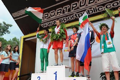 biegi na orientację, EYOC 2010, dekoracja zwycięzców