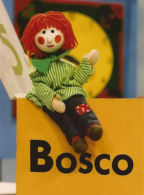Bosco sitting on his box