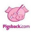 The old Pigsback.com logo of Curly the pig