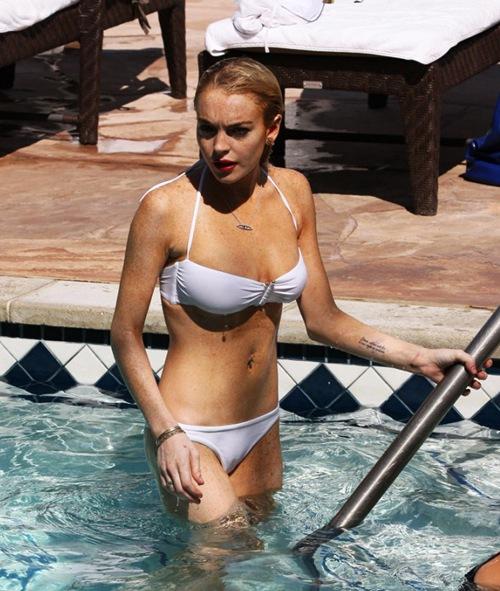 Lindsay Lohan in Bikini