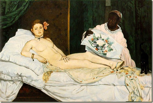 Olympia, Manet, 1863