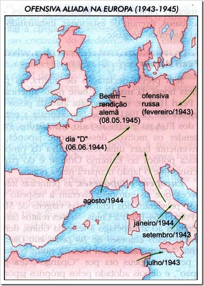 mapa ofensiva aliada na Europa