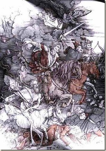 Os Quatro Cavaleiros do Apocalipse, Dürer - c. 1497-98 - gravura