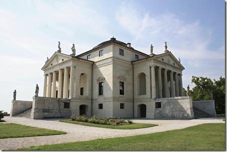 Villa Rotonda, Palladio, início em 1550. Vicenza.