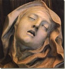 O Êxtase de Santa Teresa, Bernini, 1645-52, Capela Cornaro. detalhejpg