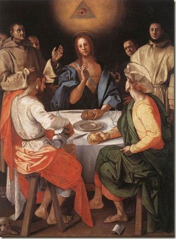 A ceia de Emaús, Pontormo, Galeria Uffizi, Florença
