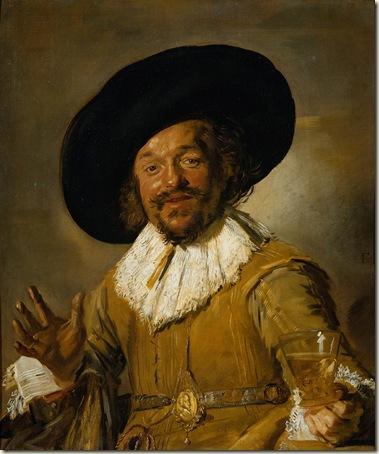 O Alegre Beberrão, Frans Hals, 1627, óleo sobre tela.