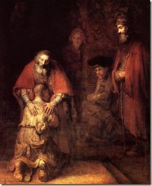 A volta do filho pródigo, Rembrandt