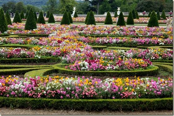 Jardim  Palácio Versalhes florido, França