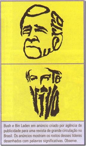 imagem Bush e Bin Laden