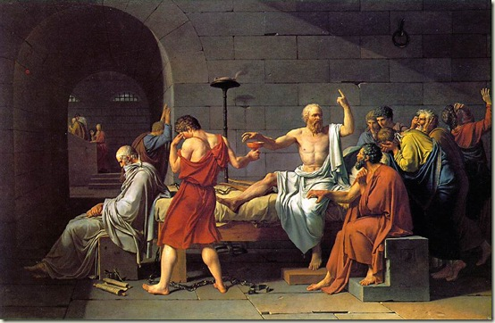 A morte de Sócrates, Jacques-Louis David