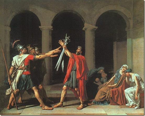 Juramento dos Horácios, David,  1784