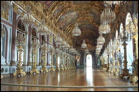 galeria dos espelhos - Palácio de  Versalhes - França -Histoblog