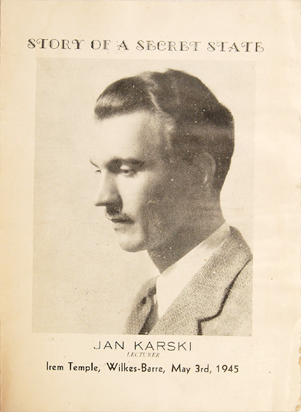 Karski lectured on the Polish Underground all over the US and Canada.