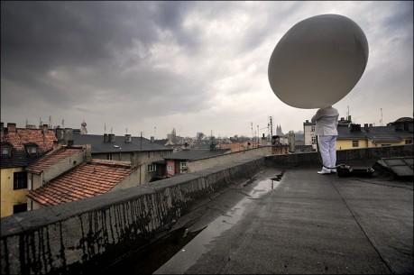 """Arti Grabowski, """"Przebudzenie-Reaktywacja"""" 2009, Świecie, fot. Marcin Saldat"""