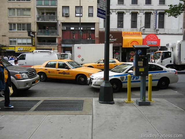 Foremost taxi is an undercover New York City police car.  Cool, right?