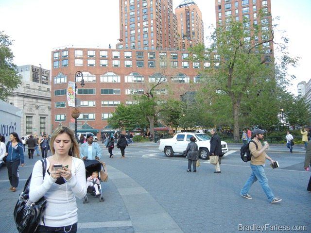 Union Square Park, facing the Beth Israel Phillips Ambulatory Care Center.