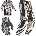 Motocross Jersey & Pant FLY Racing F16 Black White