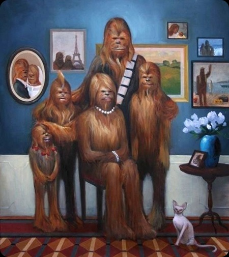 cool star wars photos chewies family