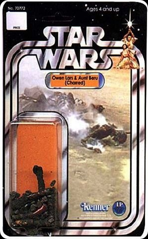 cool star wars photos owen lars & aunt beru charred rare action figure toy
