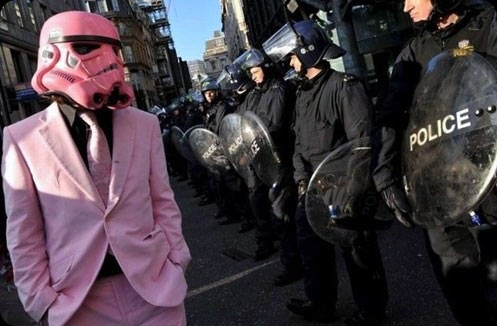 cool star wars photos pink vader police