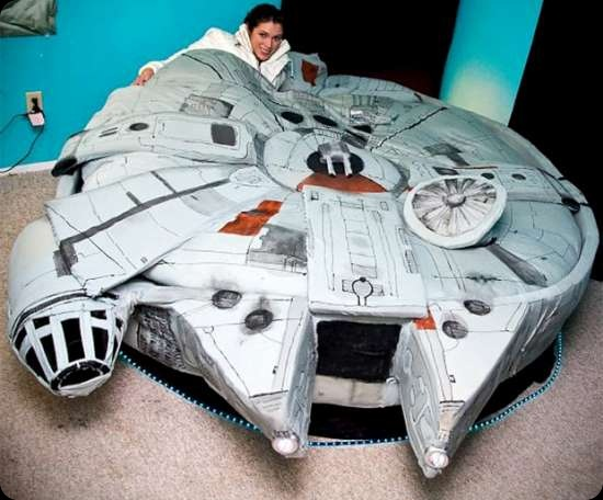 funny star wars pics star wars Millennium Falcon bed