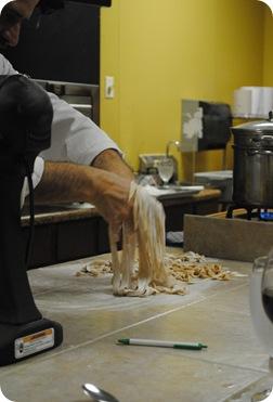 Fresh whole-wheat pasta