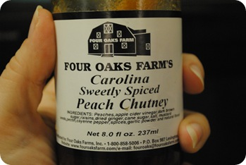 Peach chutney