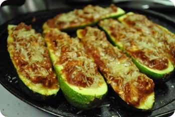 stuffed zucchini, pizza-style