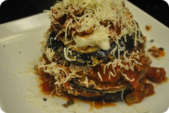 eggplant parmigiana lasagna stack