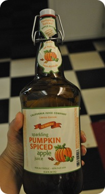 Sparkling Pumpkin Spiced Apple Juice