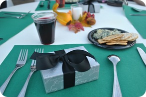 rehearsal dinner - wine, spinach dip